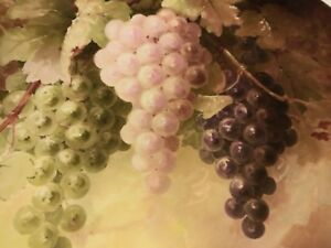 Limoges France 14 Inch Charger With Grapes