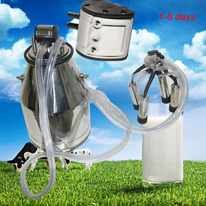 Farm Cow Milker Milking Machine Bucket 304 Stainless Steel Dairy Tank 25l