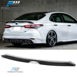 Fits 18 19 Toyota Camry Pb Style Trunk Spoiler Wing Gloss Black Abs