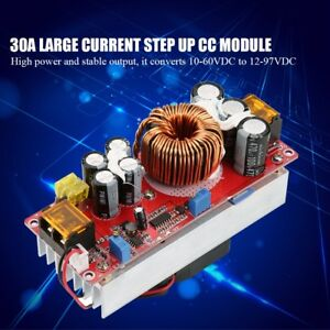 1500w 30a Voltage Step Up Converter Boost Cc Cv Power Supply Module
