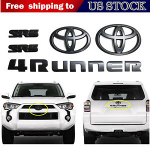 2014 2019 Toyota 4runner Sr5 Matte Black Car Truck Parts Emblem Kit Replacement