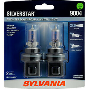 Sylvania 9004 Silverstar High Performance Halogen Headlight Bulb 2 Bulbs