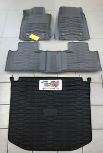 2016 21 Jeep Grand Cherokee Rubber Slush Floor Mats Cargo Tray Liner Set Mopar