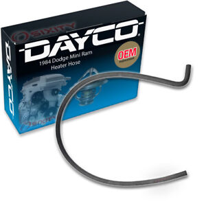 Dayco Heater Hose For 1984 Dodge Mini Ram 2 6l L4 Carburetor To Engine Qt