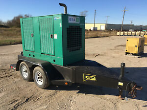 Cummins 35 Kw Portable Diesel Generator 902 Hours Ready To Go