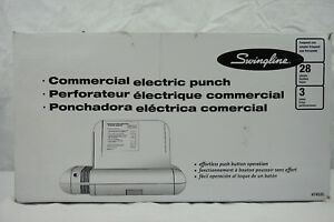 Swingline 74535 Commercial Electric 3 Hole Paper Punch Puncher new Opened Box