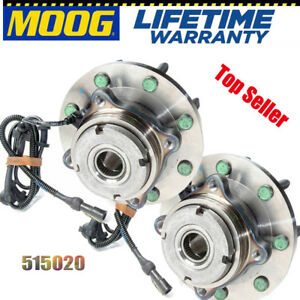 Moog 515020 Front Wheel Bearing And Hub Assembly For Ford F 250 Super Duty Pair