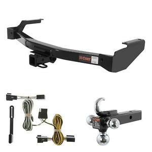 Curt Trailer Hitch Wiring W Tow Hook Ball Mount For Dodge Truck Van