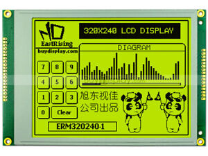 5 7 yellow Green Color 320x240 Graphic Lcd Module ra8835 Optional Touch Panel