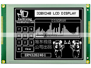 5 7 Inch Black 320x240 Graphic Lcd Display Module ra8835 sed1335 optional Touch