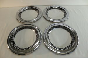 Nice Set 1957 1958 Chevy Cameo Deluxe Truck Wheel Trim Moldings Beauty Rings
