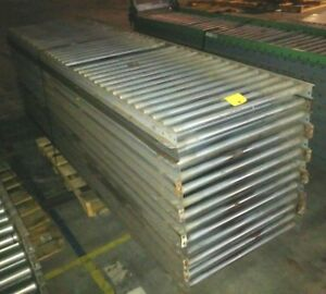 13 10ft Sections Mathews Brand 30 Wide Gravity Roller Conveyor 130 Total