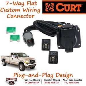 55243 Curt 7 Way Rv Trailer Wiring Connector Harness Fits Ford Super Duty