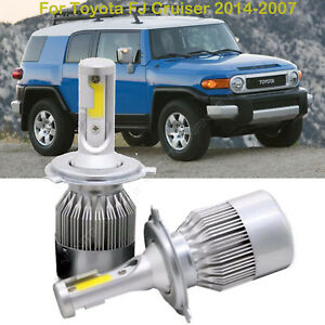 For Toyota Fj Cruiser 2014 2007 Led Headlight Kit Car H4 9003 High Low Beam Bulb