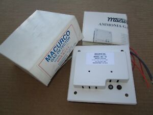 Macurco Ad 12 Fixed Gas Ammonia Detector 12 24vac dc