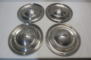 46 47 48 Chevy 16 Accessory Hubcaps Set 4 Wheel Covers Hub Caps 1946 1947 1948