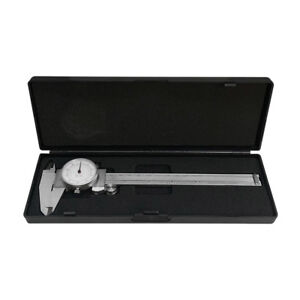 6 150mm Dual Reading Dial Caliper Shockproof Scale Metric Sae Standard Inch Mm
