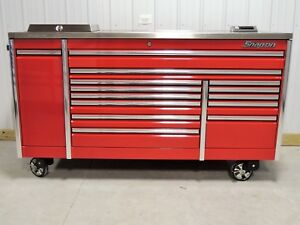 Snap On Candy Apple Red 84 Epiq Toolbox Stainless Steel Power House Top