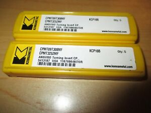 10 Inserts Kennametal Cpmt09t308mf Kcp10b Carbide Inserts New