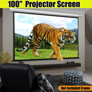 Portable 100 Projector Screen Home Theater Movie Meeting Projection Screen 4 3
