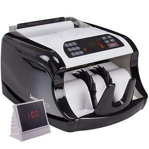 Electric Cash Bill Counter Money Counting Machine Counterfeit Detection Digital