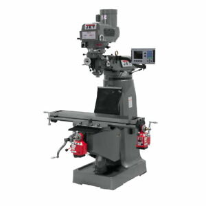 Jet 690140 Jtm 4vs Mill 3 axis Acu rite 200s Dro quill X Y axis Powerfeed