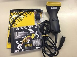 Wasp Bar Code Scanner Includes Software Manual Adapters