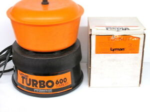 Lyman Turbo 600 Case Tumbler~With Media~110 Volt~Model 7631306~USED