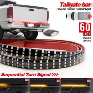 Truck Tailgate Strip 60 Triple Led Sequential Turn Signal Brake Reverse Light