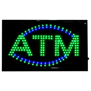 Large Bright Led Neon Light Atm Sign Business Animated Motion Display 22 X 13