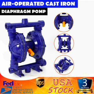 Qbk 15 Air operated Double Diaphragm Pump Cast Iron 1 4 Inch Air Inlet 115 Psi