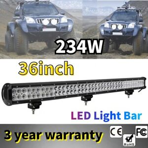 36inch 234w Cree Led Light Bar Spot Flood Combo Waterproof Offroad Driving Jeep