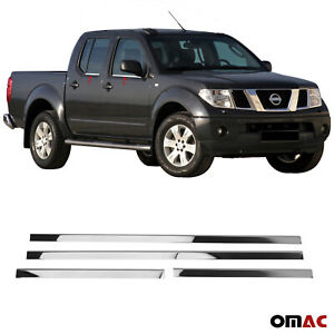 Chrome Window Trim Overlay Cover 4 Pcs S Steel For Nissan Frontier 2006 2015