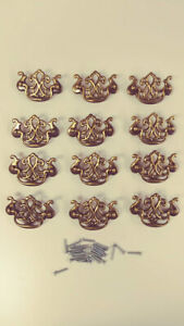 6 Reproduction Colonial Style Dresser Drawer Pull Handles Ornate Fancy Lot Of 6