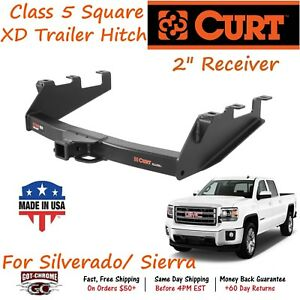 15323 Curt Class 5 Xtra Duty Trailer Hitch 2 Receiver Fits Silverado Sierra