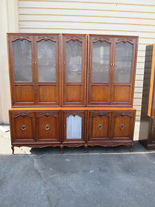 57769 Henredon Breakfront China Cabinet Curio Quality 7 Section Unit