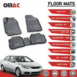 Floor Mats Liner 3d Molded Black Fits For Kia Forte Sedan 2010 2013