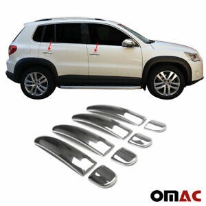 Fits Vw Tiguan 2007 2016 Chrome Door Handle Cover Stainless Steel 8 Pcs 4 Door