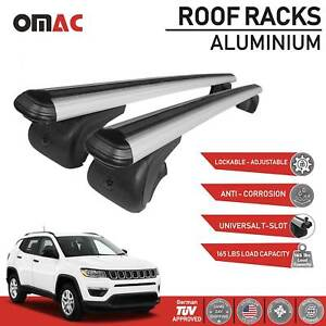 Roof Rack Cross Bars Luggage Carrier Silver For Jeep Compass 2017 2020