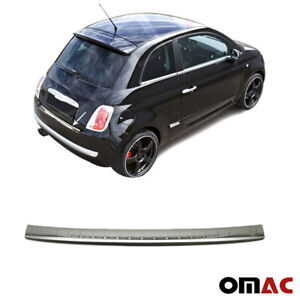 Fits Fiat 500 2007 2015 Chrome Rear Bumper Guard Trunk Sill Protector S steel