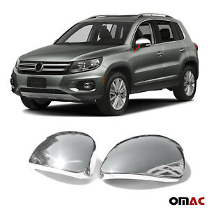 Fits Vw Tiguan 2009 2016 Stainless Steel Chrome Side Mirror Cover Cap 2 Pcs