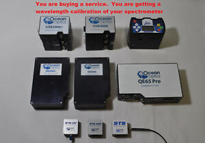 Wavelength Calibration Service For Ocean Optics Spectrometer Usb2000 Usb4000 Hr