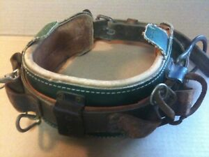 rare Klein Tools Utility Pole Climbing Belt Model 5282n20 made In The Usa