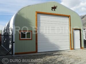 Durospan Steel 30x36x14 Metal Building Garage Workshop Open Ends Factory Direct