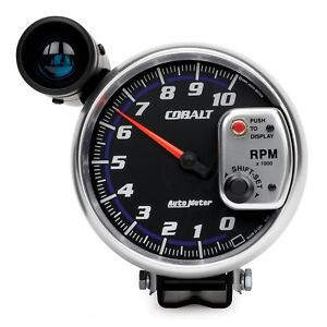 6299 Autometer Cobalt 5 Inch 10000 Rpm Tachometer W Shift Light