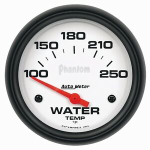 Auto Meter 5837 2 5 8in Phantom Water Temp Gauge 100 250