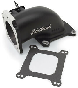 38483 Edelbrock Low Profile Intake Elbow 90mm Throttle Body To Square bore