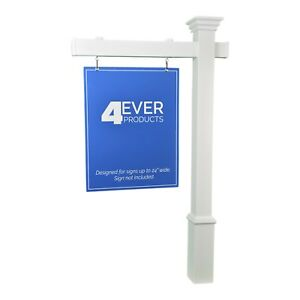 The 4ever 5 Real Estate Yard Sign Post Stake Decorative Options And 36 Arm