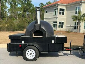 Wood Fired Brick Pizza Oven Trailer Catering Business