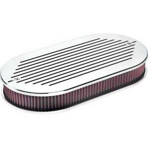Billet Specialties 15520 Dual Quad Air Cleaner Ball Milled